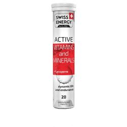 SWISS ENERGY, ACTIVE, 20 tablete efervescente cu Licopen